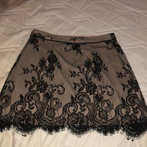 Abercrombie & Fitch Skirts - Nude and Black Lace Skirt Size 4